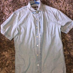 Michael Kors denim pattern polo shirt